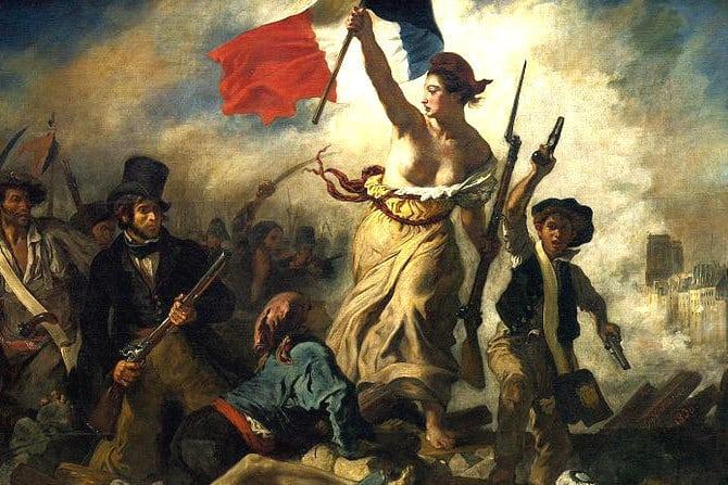 """Delacroix peint la Révolution française : """"La Liberté guidant le peuple"""""""