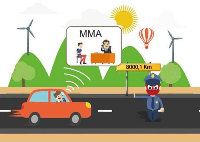 Le forfait kilométrique de l'assurance auto MMA