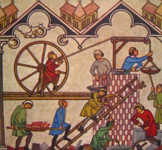 Bâtisseurs de cathédrale au Moyen-Age