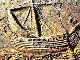 Navire des phéniciens, marchands grecs du 1er millénaire avant notre ère