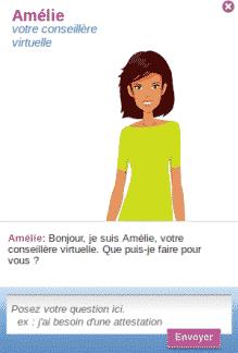 Ameli Amélie, votre conseillère virtuelle