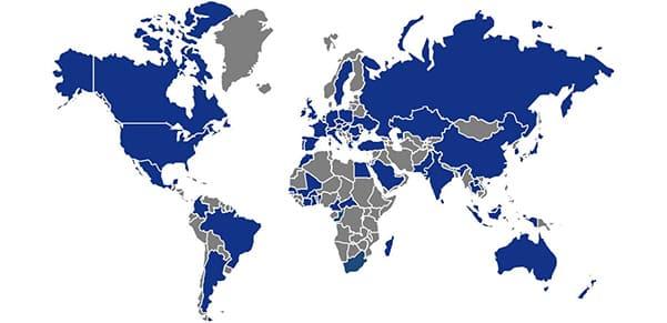 Présence d'Allianz dans le monde