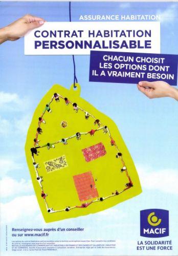 Publicité de la Macif pour son assurance habitation personnalisable