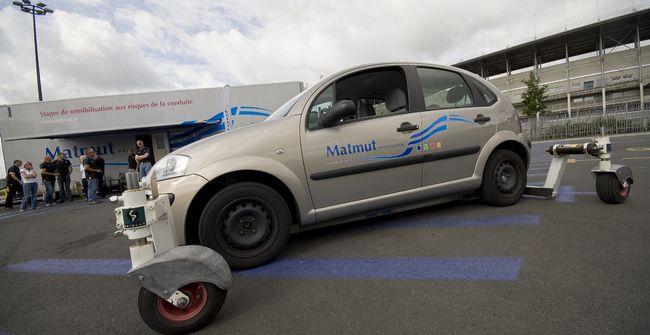 Stage pratique de prévention routière organisé par la Matmut