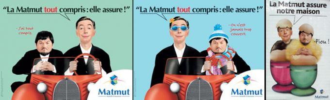 Publicités de la Matmut pour ses offres d'assurances