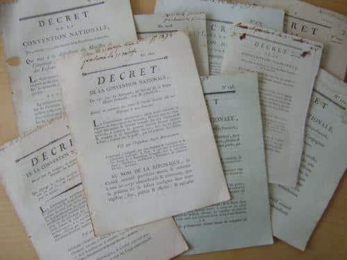 Dans ces décrets de 1793, le principe de la sécurité sociale...